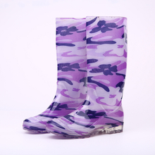 Fashionable shiny women rain boots