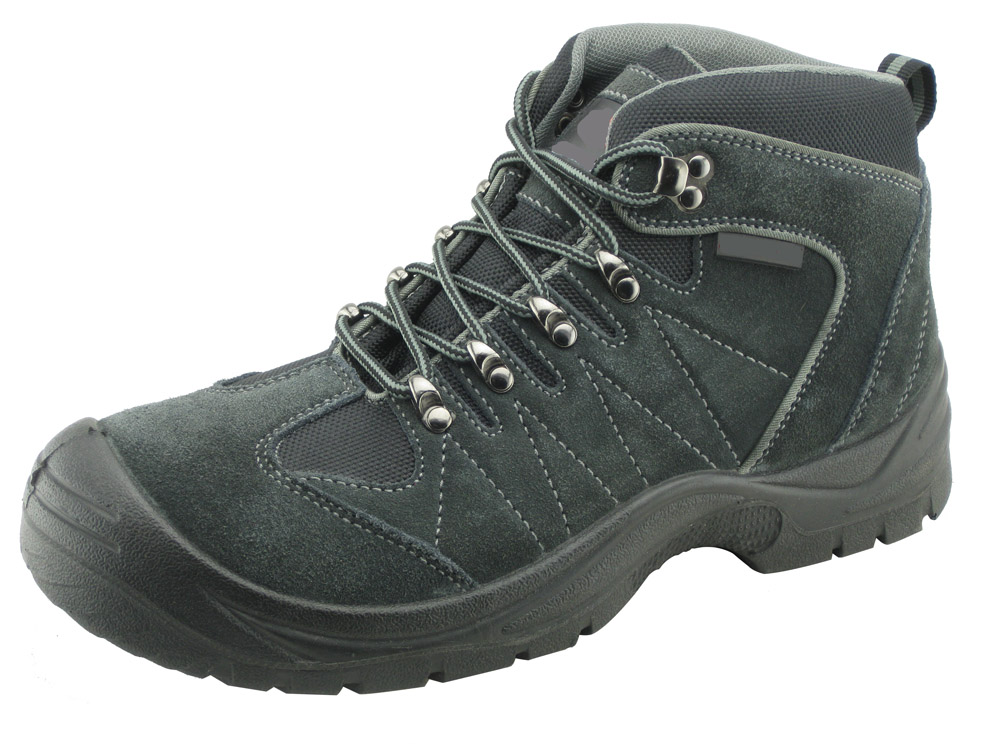 Suede leather work men safety shoes