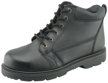 9822 corrected leather goodyear welted boots with steel toe