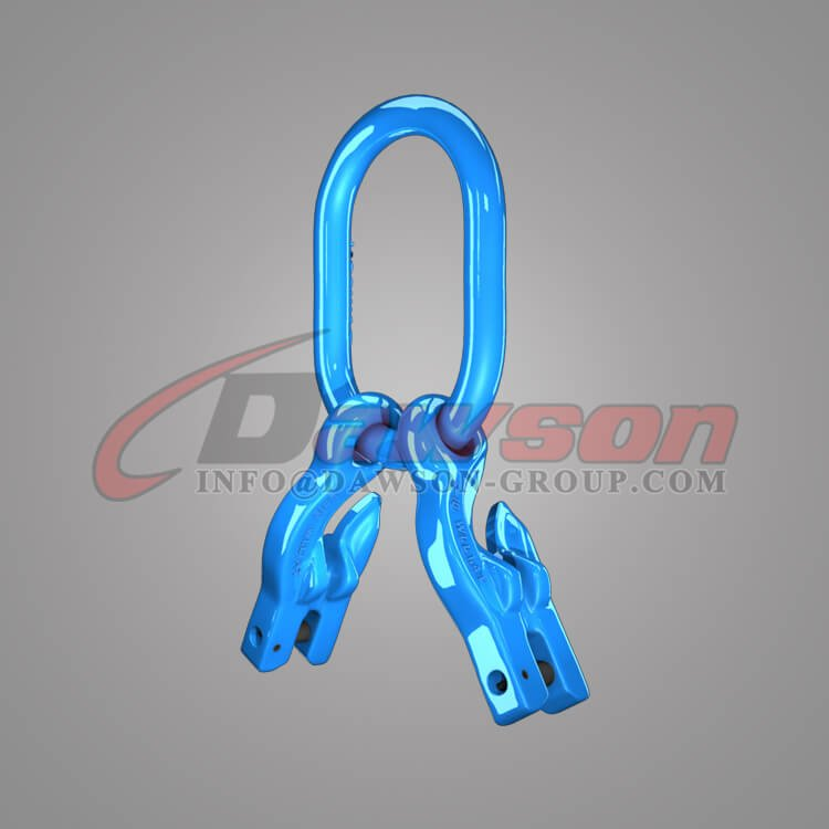 Grade 100 Master Link for Chain Slings + Grade 100 Eye Grab Hook with Clevis Attachment for Adjust Chain Length × 2 - Dawson Group Ltd - China Factory