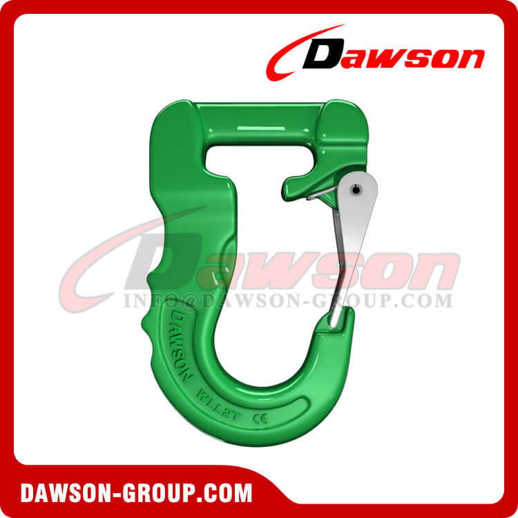 Grade 100 Web Sling Hook, G100 Synthetic Alloy Round Sling Hook 2T - Dawson Group Ltd. - China Supplier