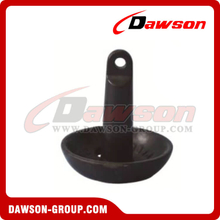 Black Vinyl PE Coated Mushroom Anchor