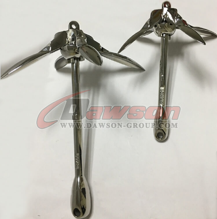 polished-stainless-steel-small-folding-boat-anchor-China