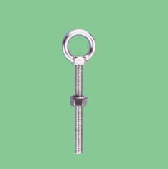 S/S LONG TYPE EYE BOLT WITH ONE WASHER AND ONE NUT