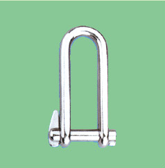 S/S LONG DEE SHACKLE WITH SINGLE CAPTIVE PIN