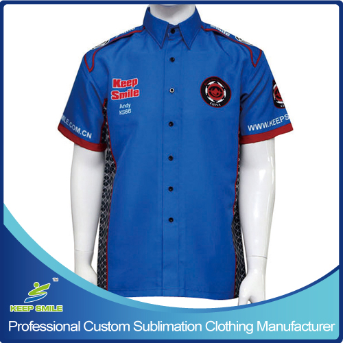 Customized Sublimation Pit Crew Racing Shirt for Team or Club