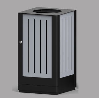 Outdoor waste bin with plastic wood HW-523