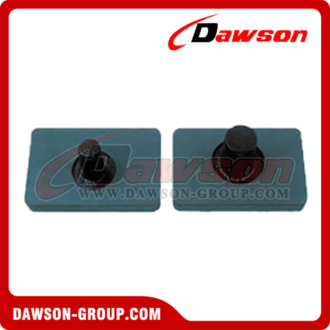 "B10110 2""×4"" Rubber Foot For Large and Small Tube Bolt On"