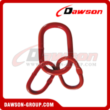 G80 / Grade 80 Power Plastified European Type Master Link Assembly for G80 Chains / Wire Rope Lifting Slings