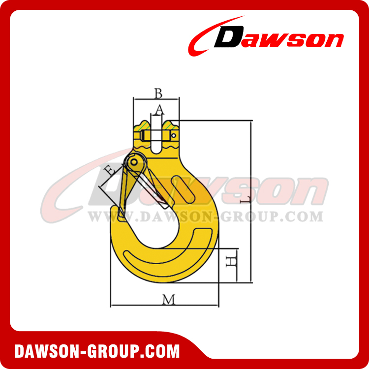 DS333 G80 CLEVIS SLING HOOK WITH CAST LATCH - DAWSON-GROUP - CHINA MANUFACTURER SUPPLIER, FACTORY