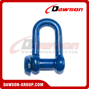 Trawling Dee Shackle Oversize Square Head Pin with Blue Painted, Fishing Shackle