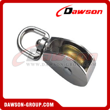 Die Cast Zinc Single Wheel Pulley with Swivel Eye
