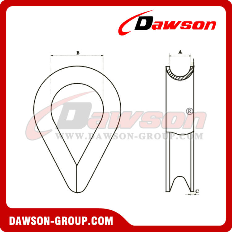 U.S Thimble G-414 - Stainless Steel AISI316 AISI304 - Dawson Group Ltd. - China Manufacturer, Supplier, Factory, Exporter