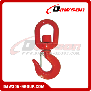 DS132 322A G70 Grade 70 Forged Alloy Steel Swivel Hook, 322C G43 Grade 43 Forged Carbon Steel Swivel Hoist Hooks