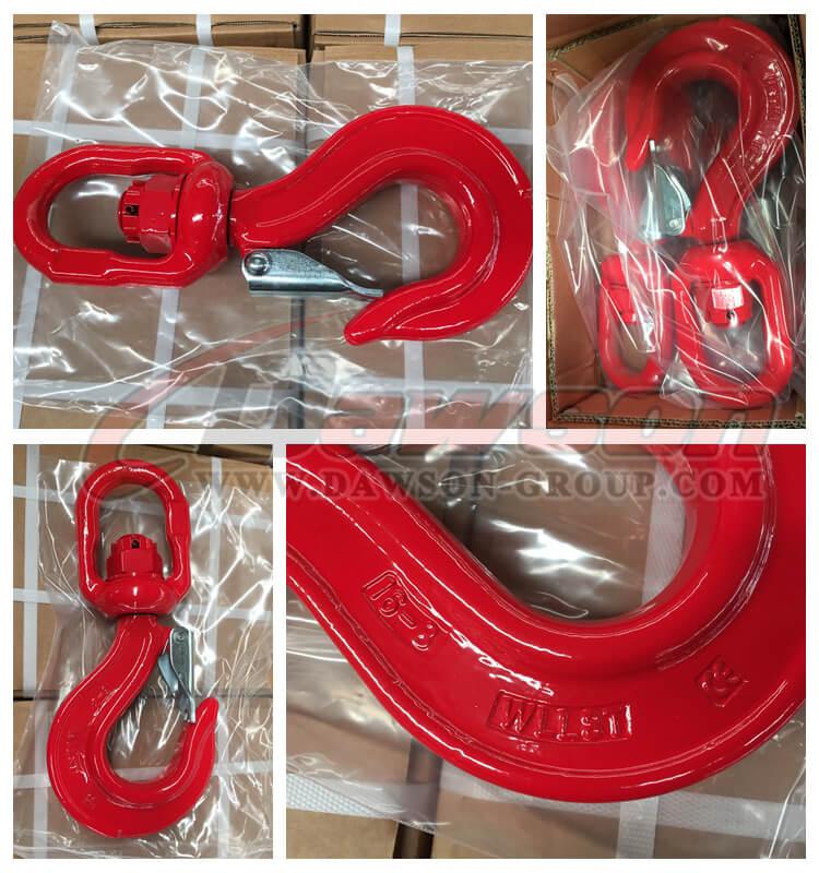 DS268 G80 Swivel Hook with Latch 16mm - Dawson Group Ltd. - China Manufacturer, Supplier, Factory