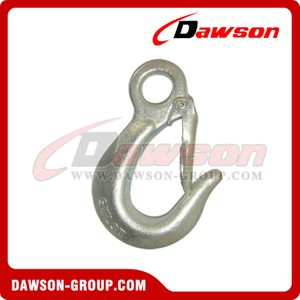 DS117 Alloy Large Throat Opening Eye Hook with Latch for General Hoist