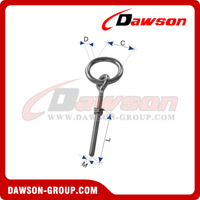 Stainless Steel Ring Bolt with Washer and Nut