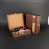 Wine Box Manufacturer White PU leather whisky cabinet