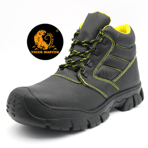 Oil Acid Resistant Anti Slip Leather Safety Boots Steel Toe Cap