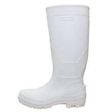 White Water Proof Oil Acid Resistant Food Industry Steel Toe Pvc Safety Rain Gumboots