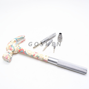 Customized Stainless Steel Multifunctional Hammer For Civil Using With Flower Printed