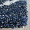5'×8' Navy Living Room Rug Soft Shaggy Carpet