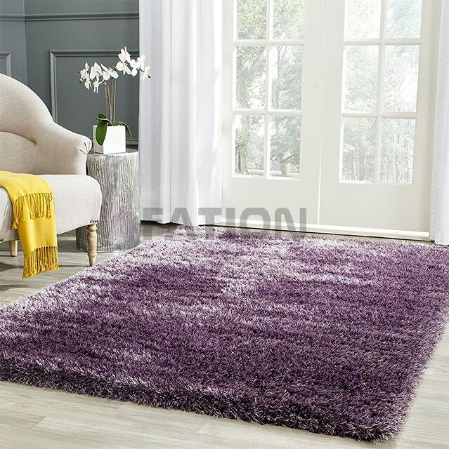 Purple Home Decor Rug Comfortable Shag Carpet