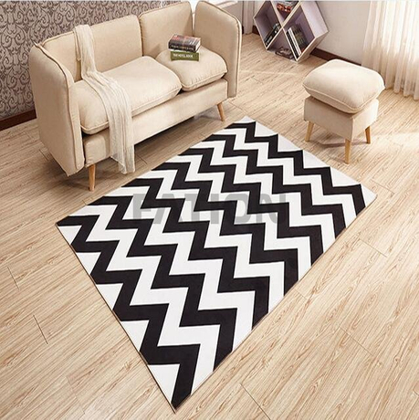 Machine Printed Bath Rug Inexpensive Floor Carpet