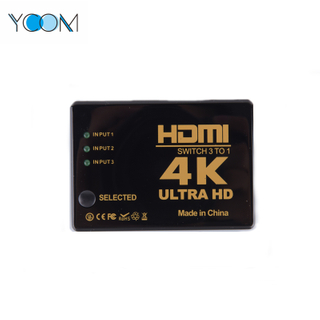 3 entradas 1 salida HDMI Switch Support 4K 3D