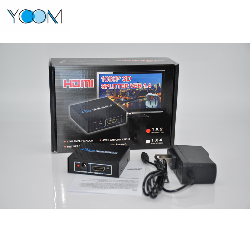 High Speed 4K HDMI Splitter Support 1080P 3D