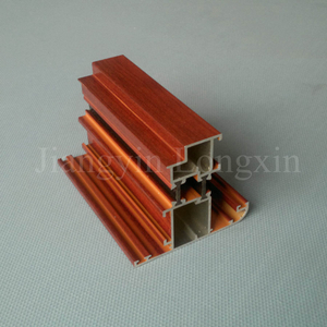 Wooden Print Aluminium Section for Casement Window Thermal Break