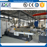Industrial Plastic Compound Color Masterbatch Parallel Co-rotating Underwater Pelletizing Twin Screw Extruder Machine