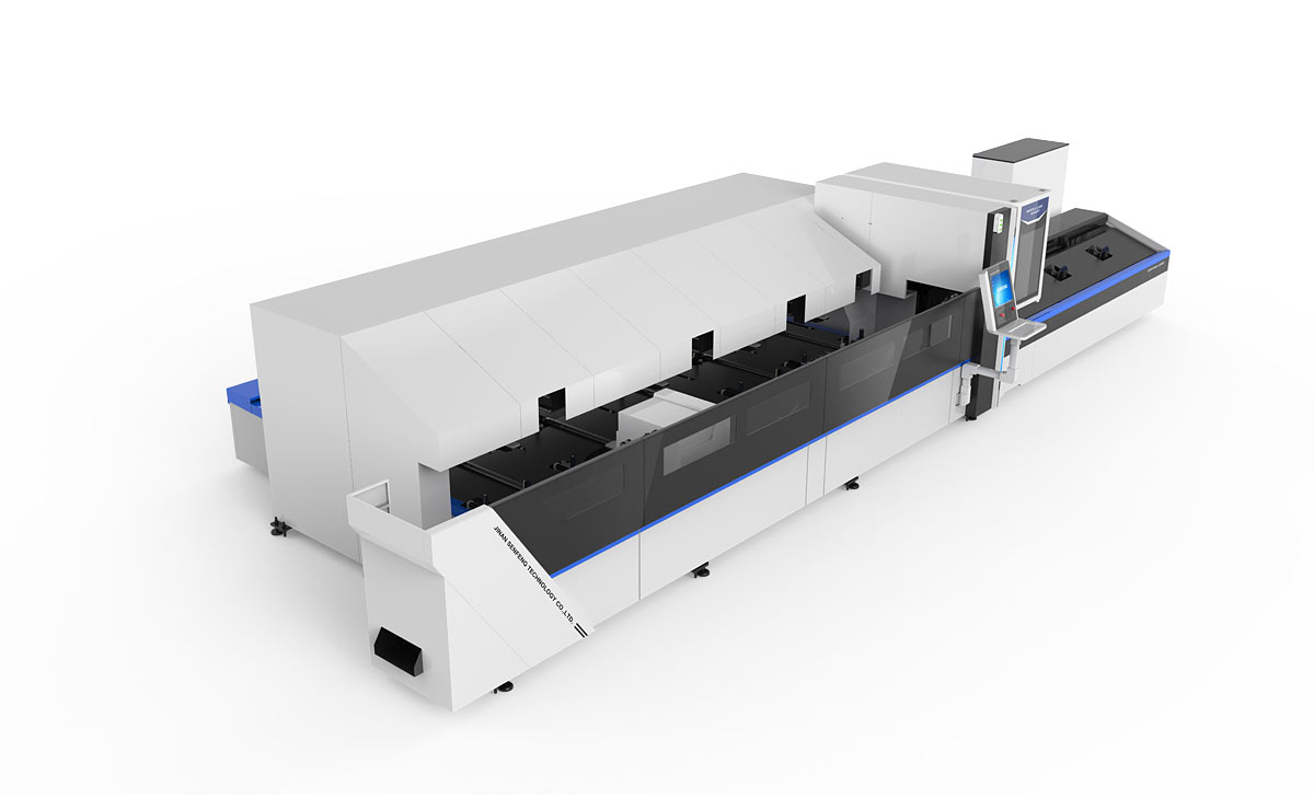 Automatic metal tubes fiber laser cutting machine3