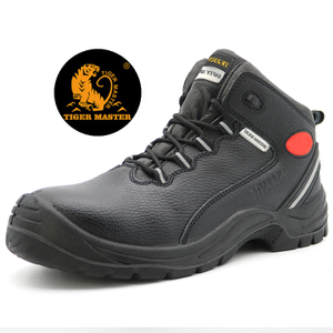 Chile Oil Proof Anti Slip Pig Leather Lining Construction Safety Shoes Steel Toe