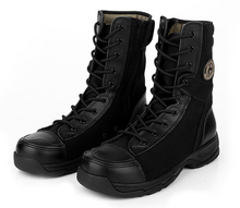 99014 Canvas fabric swat police boots
