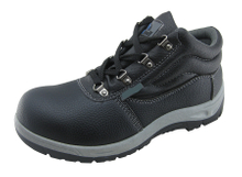 Artificial leather PVC injection work safety shoes for construction