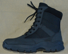 Good quality gunuine leather and fabric military boots shoes