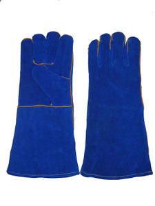 1315 Kevler sewing fully lined royal blue welding gloves