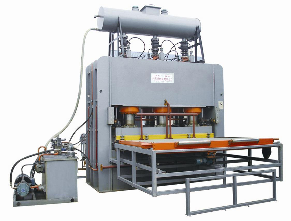 Hot sale 1200 T 4*8 short cycle melamine hot press machine