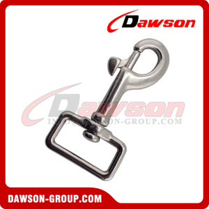 Stainless steel square swivel hook for straps