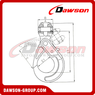 G80 / Grade 80 Special Clevis Self-lock Hook
