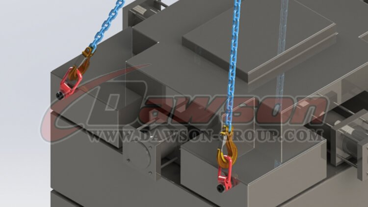 application DS173 G80 Pivoting Lifting Screw