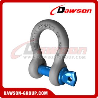 US Type Forged Alloy Screw Pin Anchor Shackle, S6 Screw Pin Bow Shackle