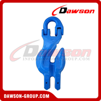 G100 / Grade 100 Connecting Link with Clevis Shortening Grab Hook Attachment for Chain Slings