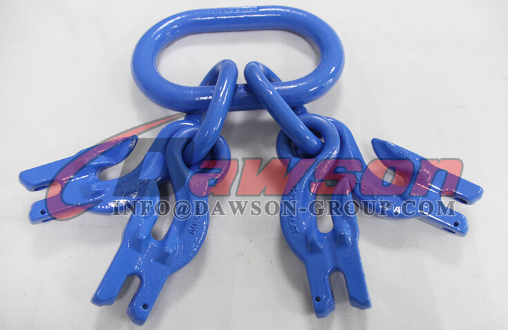 G100 Master Link Assembly with 4 G100 Eye Grab Hook with Clevis Attachment for Adjust Chain Length - China Dawson
