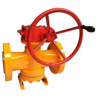 Gear Operated Pressure Balanced Flanged Lubricated Plug Valve
