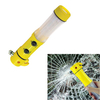 4-in-1 Multifunctional Car Emergency Life Safety Glass Hammer with Window Breaker, Seatbelt Cutter, Led Flashlight, SOS Warning