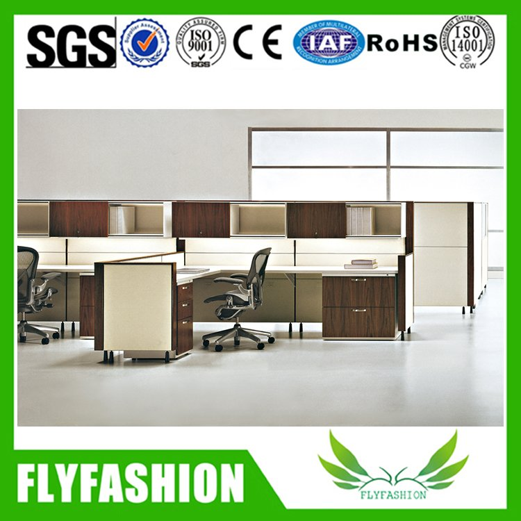 Modern fashionable office computer desk with file cabinet PT-62