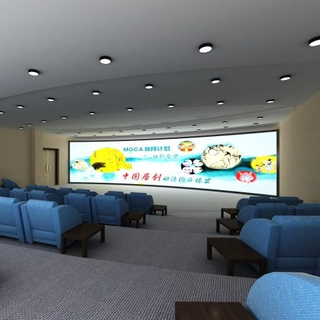 180°/ 360° Multi-Channel Curved Fixed Frame Projection Screen For Simulation
