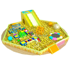 Indoor Playground Type Big Ball Pit with Slide & Trampoline